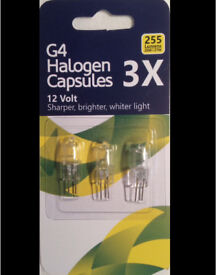 100 X3 G4 Halogen Light Bulb Capsules 12V 20W
