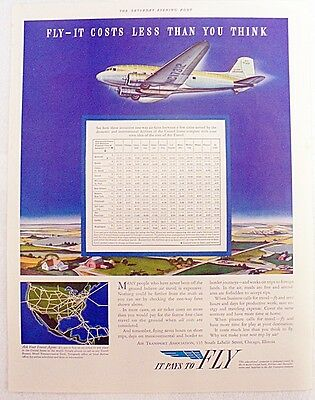 Advertising Air Transport Service One Page Magazine Ad