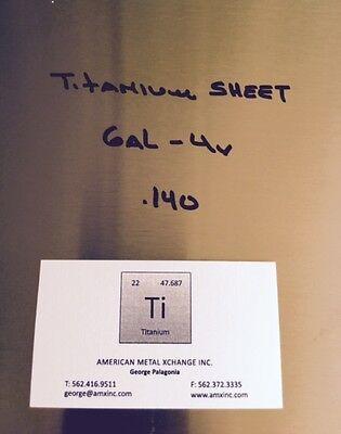 Titanium Sheet 6al-4v .140 X 12 X 36