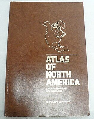 NATIONAL GEOGRAPHIC ATLAS OF NORTH AMERICA 1985 - 1987 REPRINT
