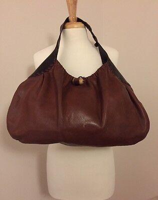 Henry Cuir Beguelin Brown Leather Hobo Handbag Single Shoulder Strap # 2061