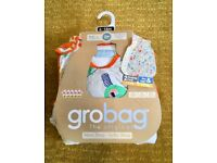 BNWT Grobag baby sleeping bags pack 6-18 months (day & night - 1.0 & 2.5 tog)