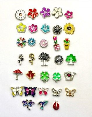FLOWERS and INSECTS  charms for your floating  locket origami owl style - Floating Lockets And Charms