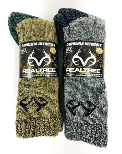 REALTREE Merino Wool Blend Boot Socks 4 pair