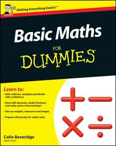 Basic Maths For Dummies (UK Edition) (Paperback), Beveridge, Colin, 97811199745.