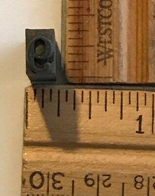 Vintage Antique Metal Printer Printing Press Block Tiny Number 9 7671b
