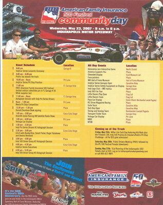 2007 Michael   Marco Andretti Community Day Handout