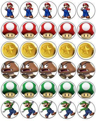 ger Kuchen Aufleger Esspapier Oblate Münze Pilz Super Luigi (Super Mario Kuchen)