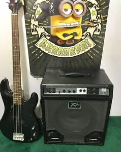 BASS GUITAR AND POWERFUL AMPLIFIER IN GREAT SHAPE