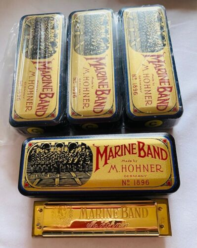 Harmonica ONE NEW- Hohner Limited Edition Gold Plated Marine Band-in C-Stunning