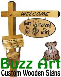 Buzz Art - Cottage and wood signs