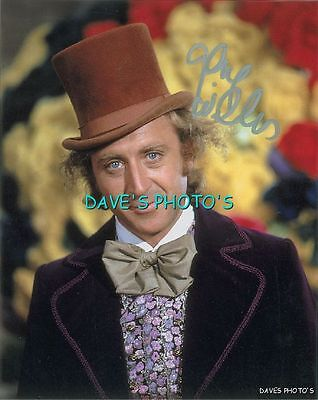 SIGNED GENE WILDER 8X10 COLOR WILLY WONKA RP SIGNED PHOTO w/coa  Free Shipping