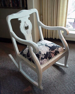 Antique Victorian Rocking Chair Shabby Chic