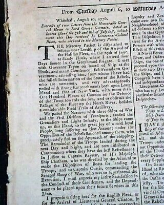 Great DECLARATION OF INDEPENDENCE 1st Reported in England 1776 London Newspaper