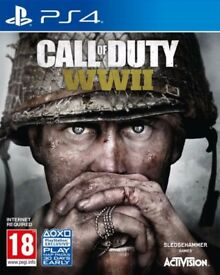 Call of Duty: WWII (World War II 2) PS4 - Like New (NO SWAPS OR OFFERS)