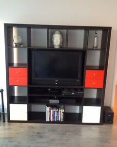 Meuble télé noir / Black TV stand