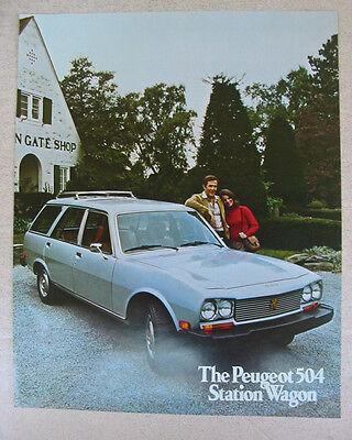 1975 Peugeot 504 Wagon Brochure