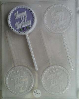 HAPPY BIRTHDAY LOLLIPOP CHOCOLATE CANDY MOLD DIY BIRTHDAY PARTY FAVORS USED Birthday Party Chocolate Favors