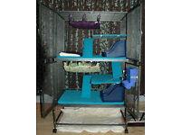 Explorer Liberta 2 level wrought iron, ferret/ rat/ chinchilla animal cage