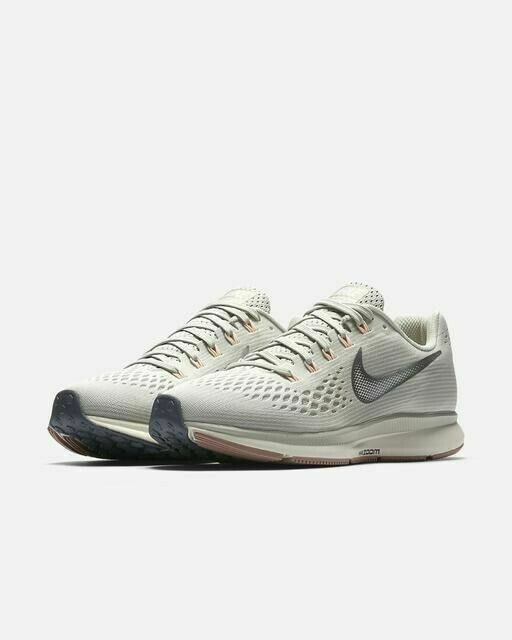 Nike Women's Air Zoom Pegasus 34 Running Shoes Light Bone Si
