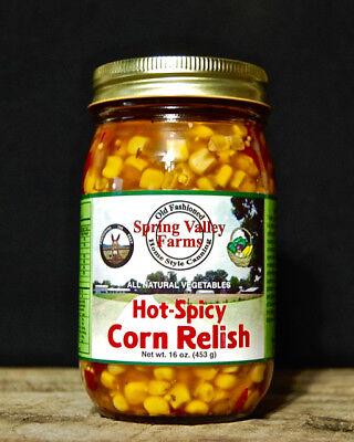 Spicy Corn Relish - Spring Valley Farms Hot-Spicy Corn Relish