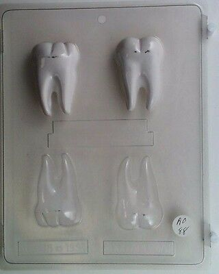 TOOTH TEETH CLEAR PLASTIC CHOCOLATE CANDY MOLD AO088](Tooth Candy)