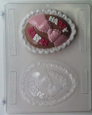 LARGE HAPPY EASTER EGGS CLEAR PLASTIC CHOCOLATE CANDY MOLD EO81 (Clear Plastic Eggs)