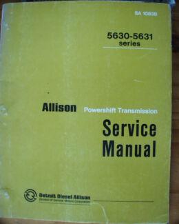 Clark powershift transmission service manuals c1980s other allison 5630 5631 powershift transmission service manual c 1971 fandeluxe Gallery
