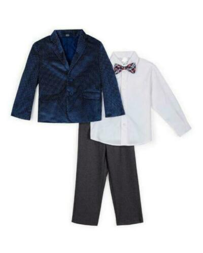 NAUTICA Boys Polka Dot Velvet 4 Piece Suit Set Size 2Toddler MSRP $89.50