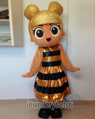 Best Cartoon Costumes (Best Sale Gold Doll Cartoon Mascot Costume Christmas Fancy)