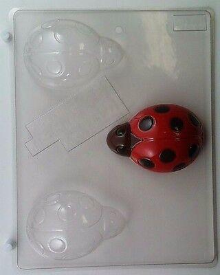 LARGE LADYBUG CLEAR PLASTIC CHOCOLATE CANDY MOLD AO130 (Ladybug Candy)