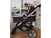 As new icandy peach pushchair pram stroller travel system