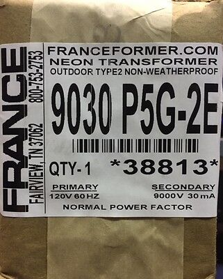 France Electric Sign Repair Part 9030 P5g-2e Outdoor Type2 Neon Transformer Nib