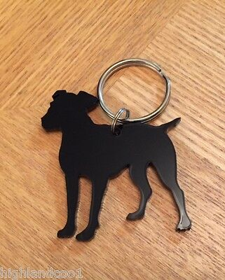 Jack Russell Dog Keyring Bag Charm Keychain Gift In Black
