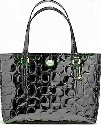 COACH Peyton Signature C Embossed Patent Leather Top Handle Satchel 52088 NWT Coach Top Handle Leather