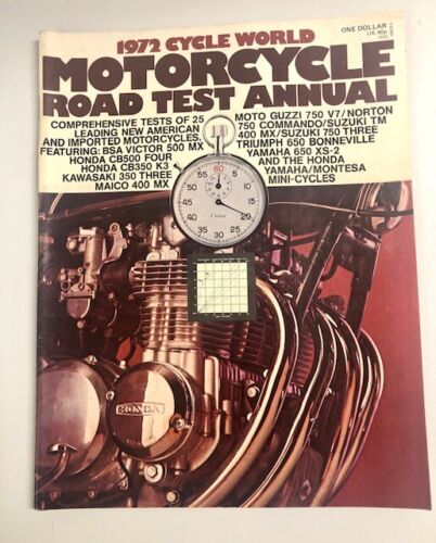 Cycle World Road Test Annual For 1972 Vintage Motorcycles