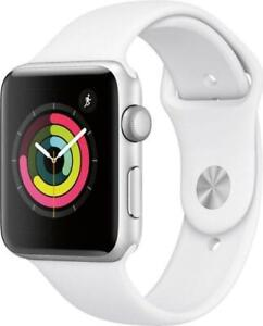 Apple Watch Series 3 GPS, Apple Watch 42mm Silver Case with White Sport Band