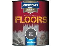 Johnstone's Speciality Floor (Garage Floor) Paint in Dark Grey. 750ml. PLEASE READ