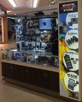 Busy Go Pro Kiosk In West Edm Mall RequiresEnergetic Salesperson