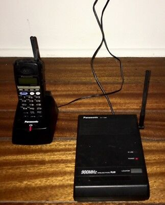 Panasonic Kx-t7885 900mhz Wireless Phone Base Station Handset 2 Chargers