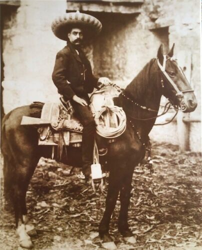 Mexican Revolutionary General Emiliano Zapata Vintage Photo 16x20