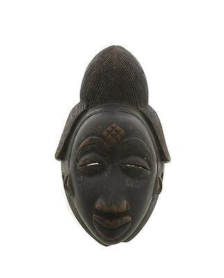 Mask African Pounou Punu Gabon Art Tribale Ritual Ethnic G2/5