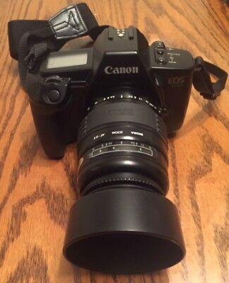 Canon EOS 630 Film Kamera mit Sigma Auto Fokus 55-200mm Objektiv,Riemen und Canon Film Kamera