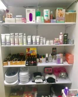 Beauty and facial products on sale