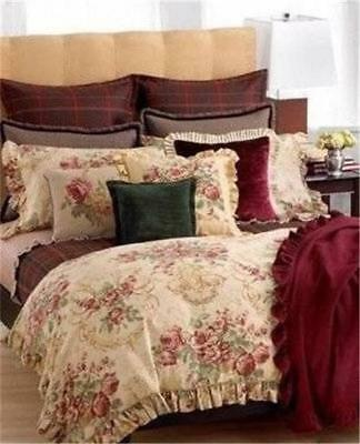 Ralph  Lauren Grosvenor Square Floral Queen 8PC  Comforter  Set