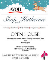 2 day AVON Open House!  Just in time for the Holidays!