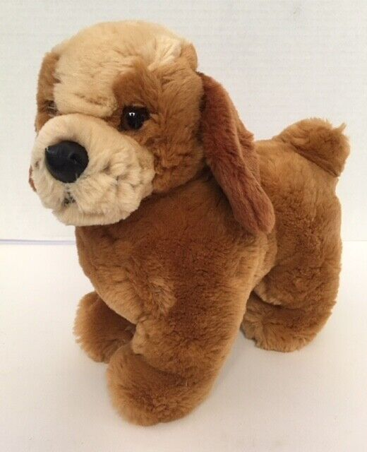 Steiff COSY BELLO Puppy Dog Plush Brown Tan Germany Stuffed Animal LC