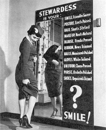 "Frontier Airlines Stewardess ((8.5""x11"")) Print"