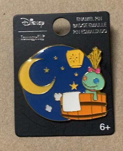 """Loungefly Disney Lilo & Stitch 1.5"""" Scrump in Spa Tub Enamel Pin"""