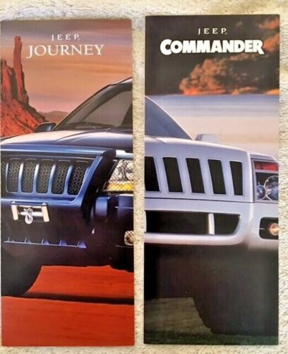 Lot Of 2 1998-1999 Jeep Concept Vehicle Flyers (Journey and Commander)